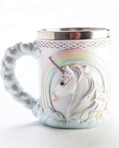 Flying Unicorn Kawaii Pastel Goth Mug Coffee Cup Rainbow Cute