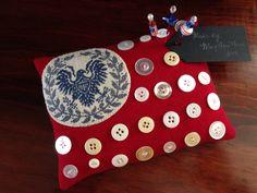 American Flag Wool Pincushion