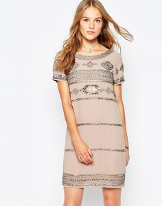 Image 1 of Vila Embellished Shift Dress