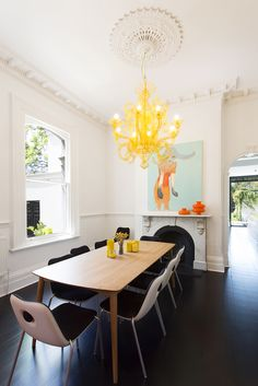 Modern Victorian Dining Room Best Of Modern Victorian House – Adorable Home Estilo Interior, Home Interior, Luxury Interior, Modern Victorian Homes, Victorian House, Deco Cool, Sweet Home, Black Floor, Dining Room Inspiration