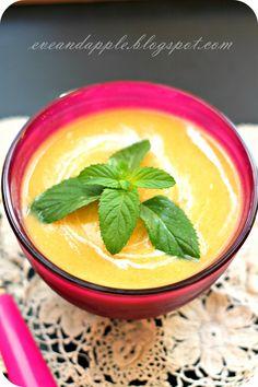 Eve and Apple: Őszibarack krémleves Cantaloupe, Cukor, Food And Drink, Soup, Pudding, Favorite Recipes, Apple, Meals, Fruit