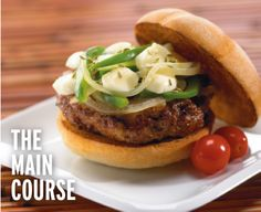 Try our delicious burger recipes like Italian Sausage Burgers with Green Peppers, Onions, and Tre Stelle® Mini Mini Bocconcini! Entree Recipes, Burger Recipes, Sausage Recipes, Grilling Recipes, Lunch Recipes, Italian Rolls, How To Cook Burgers, Delicious Burgers, Good Burger