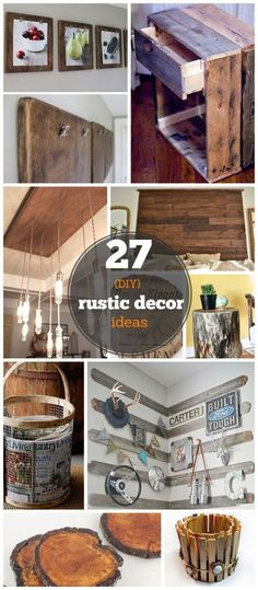 27 DIY Rustic Decor Ideas for the Home | DIY Rustic Home Decorating on a Budget by rhonda367