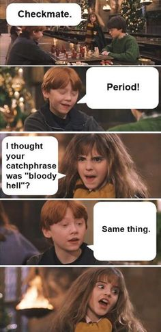 Ron and Hermione Period Meme