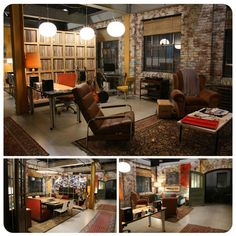 The Humphrey loft from Gossip Girl is PERFECT. Booths instead of kitchen chairs and a wall of records.. I WANT!