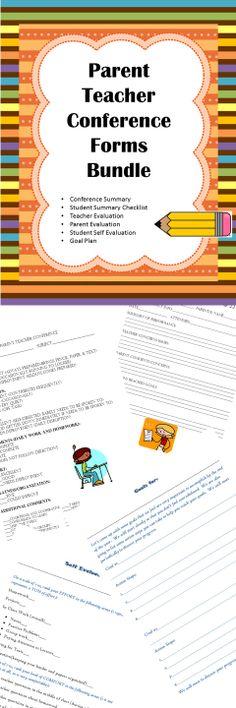 PARENT CONFERENCE FORM WITH STUDENT REFLECTION SHEET - parent teacher conference form