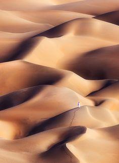 Chocolate Dunes, Alone, the Empty Quarter Desert in Abu Dhabi, UAE, by Khalid Alhammadi.