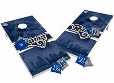 St Louis Rams Tailgate Toss XL Shields Edition Cornhole Board & Bean Bag Set