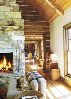 Cabin decorating home design Style At Home, Architecture Renovation, House Architecture, Little Cabin, Log Cabin Homes, Log Cabins, Cabins And Cottages, Cozy Cabin, Winter Cabin