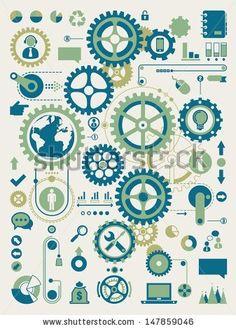 Clock Cogs and Gears | Clock Gears Drawing » VFXture.com