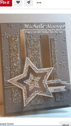 Michelle Hoover's Bright & Beautiful Silver Accents card - silver glimmer paper foil stars holiday cards christmas stampin up Homemade Christmas Cards, Christmas Cards To Make, Homemade Cards, Handmade Christmas, Holiday Cards, Christmas Tag, Christmas Ideas, Karten Diy, Star Cards