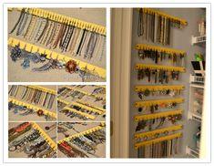 Hanging Jewelry Organizer Paint Stick Project Organizations