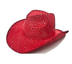 Red Sparkle Western Hat Red Hat Ladies Florida Hat Company