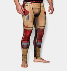 RARE Under Armour Alter Ego Iron Man Avengers 2 Compression Leggings - NWT #UnderArmour #Pants