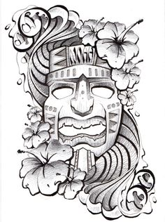 Hawaiian Tattoo by Todd Robinson ©Todd Robinson www.illustra-tr.co.uk