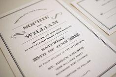 1920s Art Deco Printable Wedding Invitation by ThreeEggsDesign