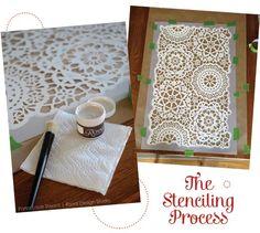 Stencil Process to Create a Winter Wonderland | Royal Design Studio