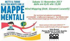 Focus sulle #mappe #mentali. Sabato 11 Novembre un bellissimo evento a #Giulianova per #professionisti #manager e #studenti