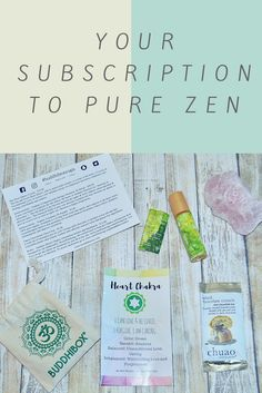 Your Subscription to Pure Zen | Beauty Brite #buddhiboxes #BBEO #beautybrite