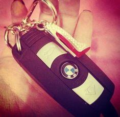 Christian Louboutin key chain and BMW car keys :)