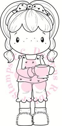 "C.C. Designs Swiss Pixie """"Coffee Birgitta"""" Rubber Stamp"