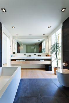Slate + wood floor