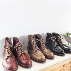 MOTO U tip hight cut shoes chromexcel leather BK #2400