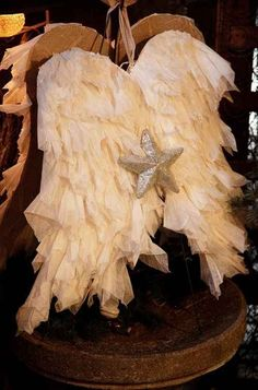 Handmade Angel Wings --Cute for Christmas decor.