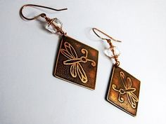 Damselfly Earrings by SnazzyTrinkets on Etsy, $22.00