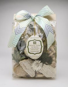 White Teak and Moss Decorative Fragrance by Aromatique- Enjoy a Clean Blend of Moss and Teak Wood!