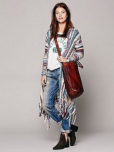 Free People multi duster