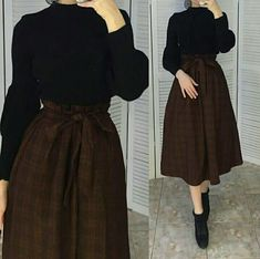 Long Skirt Fashion, Korean Fashion Dress, Muslim Fashion, Hijab Fashion, Fashion Dresses, Stylish Summer Outfits, Modest Outfits, Skirt Outfits, Classy Outfits