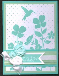 All Stamps and Supplies by Stampin' Up! Birthday Cards For Her, Girl Birthday, Wild Flower Meadow, Handmade Card Making, Card Making Tips, Hand Stamped Cards, Beautiful Handmade Cards, Rubber Stamping, Card Patterns