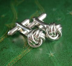 Classic Love Knot Cufflinks Vintage Cuff by NeatstuffAntiques