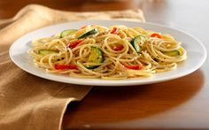 Barilla® ProteinPLUS™ Spaghetti with Zucchini & Roasted Red Bell Peppers