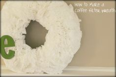 How to Make a Monogrammed Coffee Filter Wreath from MomAdvice.