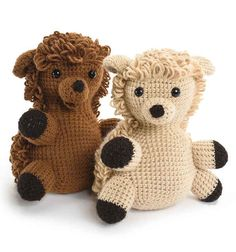 crochet animals for the little ones for the holiday...adorable!