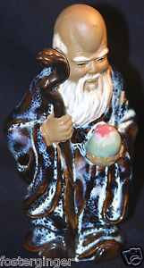 SHOU LAO | ... Flambe' Chinese Statue of the Taoist Immortal of Longevity Shou Lao