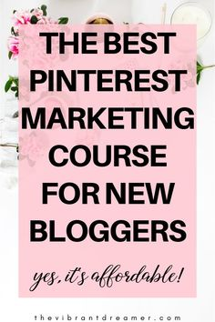 "If you've been interested in blogging, you probably have heard that the big bloggers get a ton of traffic from Pinterest! But you might be wondering, ""How??"" This course will SHOW you how, and it won't hurt your bank account! #pinteresttips #bloggingtips #pinterestmarketing"