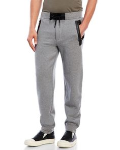 Marc By Marc Jacobs Leather Trim Drawstring Sweatpants