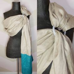 A personal favorite from my Etsy shop https://www.etsy.com/ca/listing/268224747/100-pure-linen-ring-sling-baby-carrier