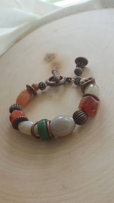 Hey, I found this really awesome Etsy listing at https://www.etsy.com/ca/listing/243944350/banded-agate-chunky-stone-bracelet