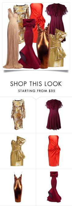 """""""The colors for Christmas and New years 2017."""" by labstyle ❤ liked on Polyvore featuring Dolce&Gabbana, Giambattista Valli, Yves Saint Laurent, Lanvin, Boohoo, Zac Posen and Maria Lucia Hohan"""