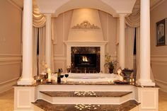 Luxury Bathrooms With Fireplace | CDxND.com - Home Design in Pictures