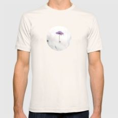 Pink morning Mens Fitted Tee Natural SMALL