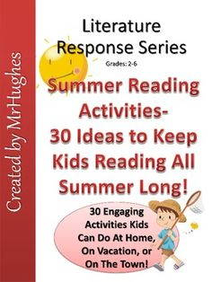 Great way to keep kids reading in a fun and engaging way! ($)