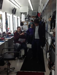Twitter / BryanFuller: HUGH AND I TALK CHARACTER WHILE ETHALINE JOSEPH GETS READY TO GIVE WILL GRAHAM A NEW HAIRCUT! #Hannibal NBCHannibal pic.twitter.com/7b7keVljYj