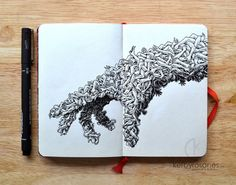 You can get lost for hours in these insanely intricate doodles hands are creepy easily turned into trees