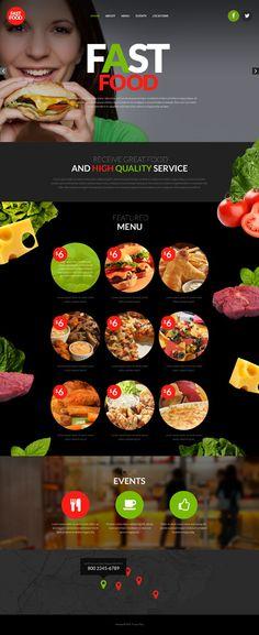Template 53532 - Fast Food  Responsive Website Template