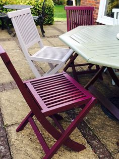 Garden Furniture Colours garden furniture makeover using cuprinol fresh rosemary paint